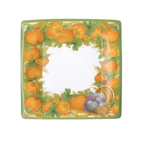 Thanksgiving Harvest Salad/Dessert Plates - 8 PK (14910SP)
