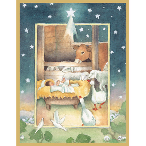 Nativity Christmas Card Box C Size 16 In (88222