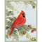 Cardinal In Pine Tree Christmas Card Box A Size 16 In (88008)
