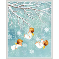 Angels In Snow Christmas Card Box A Size 16 In (88012)