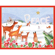Peace Woodland Scene Christmas Card Box A Size 16 In (88020)