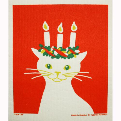Swedish Dishcloth - Lucia Cat (219.76)