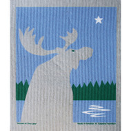 Swedish Dishcloth - Moose At The Lake (219.83)