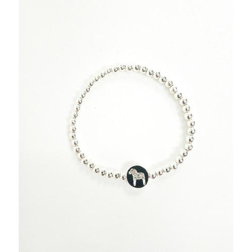 Nordic Dala Horse Silver Krystal Bracelet (63049)