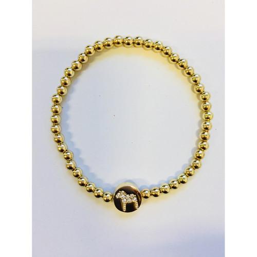 Nordic Dala Horse Gold Krystal Bracelet (63051)