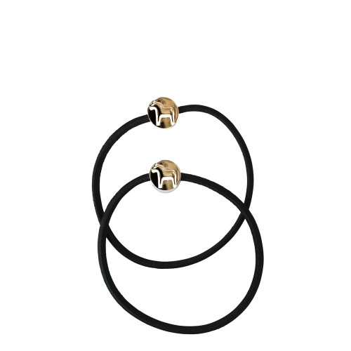 Scandi Dalahorse Hair Tie - Black (63013)
