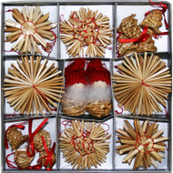 Straw Ornament and Tomte Set - 36 pc (H1-1708)
