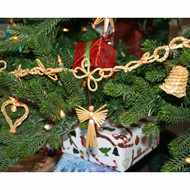 Straw Christmas Tree Garland - 6 Feet (H1-2770)