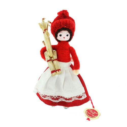 """Pixie Girl With Straw Horse - 4"""" (109)"""