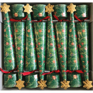 Christmas Crackers - Glittering Tree Christmas Cone - 8 Pack (CK098)