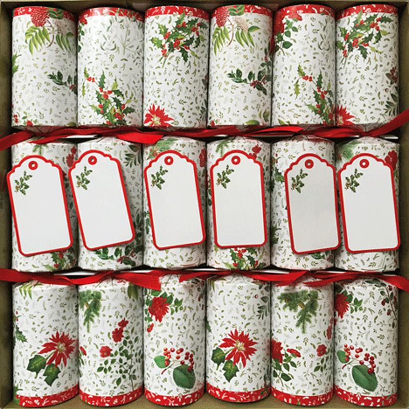 English Christmas Crackers.Christmas Crackers English Garden 6 Pack