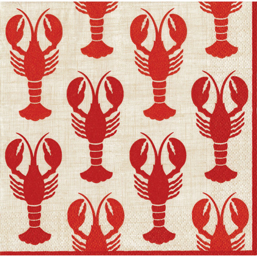 Lobsters Paper Cocktail Napkins (11300C)
