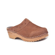 Durer Clogs in Brown Suede