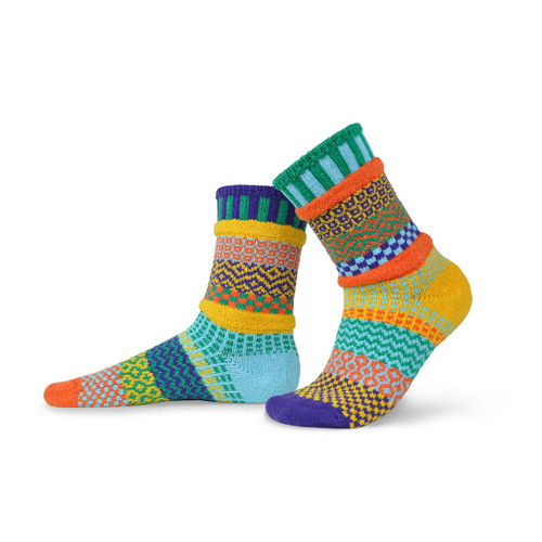 Solmate Socks - Adult Crew - Forget-me-not (FORGET-ME-NOT)