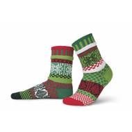 Solmate Socks - Adult Crew - Mistletoe (MISTLETOE)