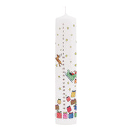 Advent Pillar Candle - Santa's Sleigh - 10 inches high (CAP4)