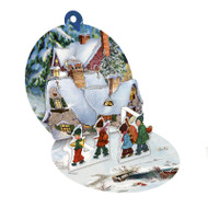 "Pop-Up Paper Bauble Gift Tag Decoration w/envelope - Kids Band - 2.75"" (94415B)"