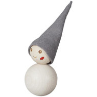 "Tonttu Christmas Frost Elf Magnet - Kiss on Cheek - 3.5"" (B6827)"