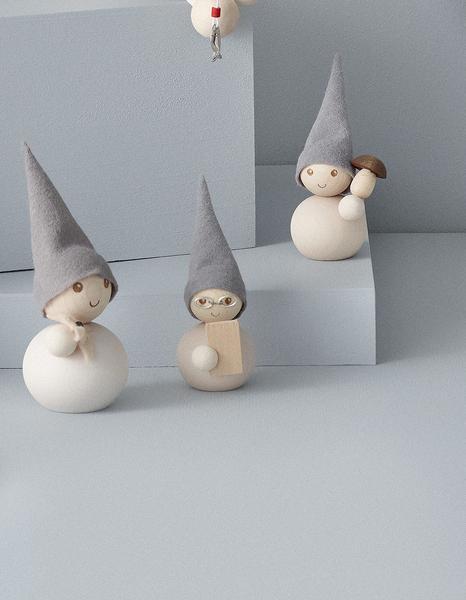 "Tonttu Christmas Frost Elf with Mushroom - 3.5"" (B6840)"
