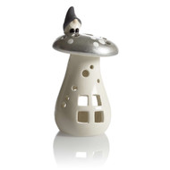 Tomte on Silver Mushroom Tealight Holder - Sm (29425)