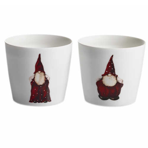 Santa Elmer & Max Tealight Holder Set - 2 pack (7255)