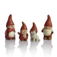 Family Luva Tomte Santa Figures - Set of 4 (9015)