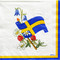 Sweden Flag and Flowers Paper Luncheon Napkins (47890)