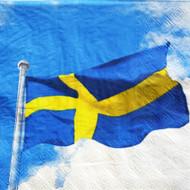 Swedish Flag Paper Luncheon Napkins (69306)