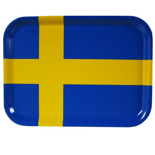 """Sweden Flag Birch Wood Tray - 10 5/8"""" (86441)"""