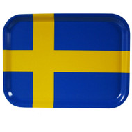 "Sweden Flag Birch Wood Tray - 10 5/8"" (86441)"