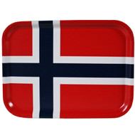 Norway Flag Birch Wood Tray - 10 5/8""