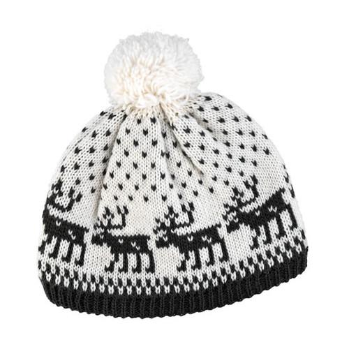 Wool Knit Hat - Moose White/Grey (88151)