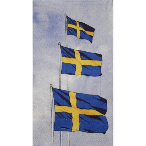 Swedish Flags Guest Towel Napkins (111400)