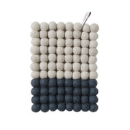 Wool Trivet/Pot Mat - Grey Dip (1197)