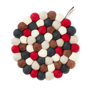 Wool Trivet/Pot Mat - Bubbleberry (1244)