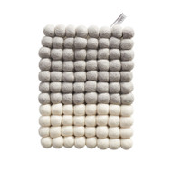 Wool Trivet/Pot Mat - White Dip (1388)