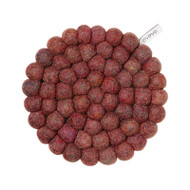 Wool Trivet/Pot Mat - Berry (1503)