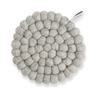 Wool Trivet/Pot Mat - Raw Grey (1598)