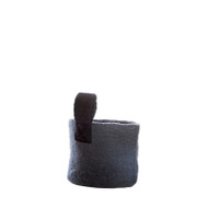 Hand Felted Wool Basket - Dark Grey - Small (1296)