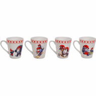"Rolf Lidberg Tomtar Glogg Mugs - 3"" - Set of 4 (2816)"