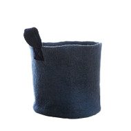 Hand Felted Wool Basket - Dark Grey - Medium (1297)