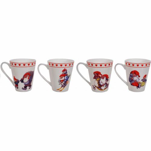 Rolf Lidberg Tomtar Coffee Mugs - Set of 4 (2815)