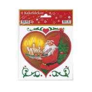 "Tomte with Ham Decals - Tile Stickers - 4 pc's - 6"" (630209A)"