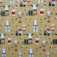 "Wrapping Paper - Santas and Heart Baskets - 23"" x 72"" (22941)"