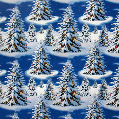 "Wrapping Paper - Blue Trees - 23"" x 72"" (14341)"
