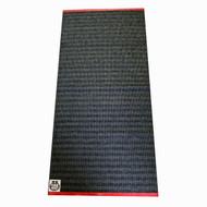 """Plastic Rug - Olle - Black/Graphite - 20"""" X 60"""" (F761)"""