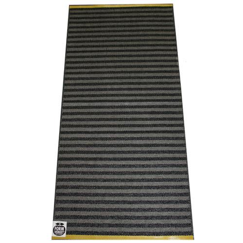 "Plastic Rug - Olle - Black/Grey - 27"" X 60"" (F755)"