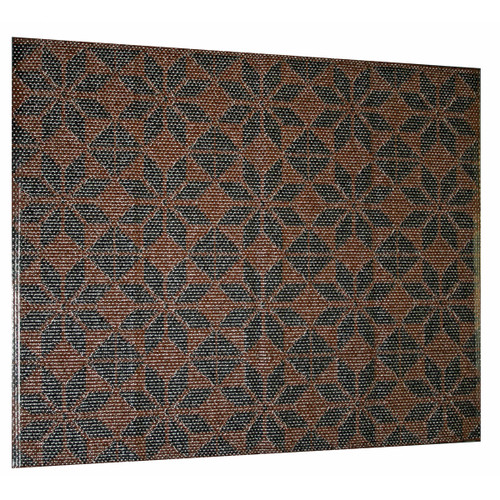 "Plastic Door Mat - Marocko - Black/Brown - 27"" X 36"" (F811)"