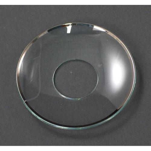 """Bobeche - Candle Wax Catcher - Silver Rim - 2.75"""" (L804-SI)"""