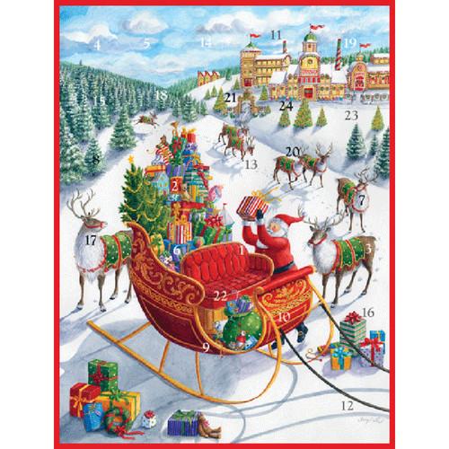 Caspari Advent Calendar - Santas Sleigh (ADV267)